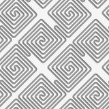 Perforated square diagonal spirals Royalty Free Stock Images