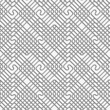 Perforated square overlapping spirals Royalty Free Stock Photos