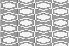 Perforated squashed шестиугольники в решетке Стоковое Изображение