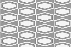 Perforated squashed hexagons in grid Stock Image