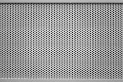 Perforated steel background Stock Image
