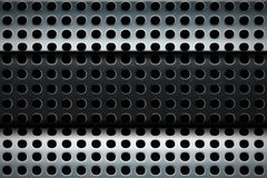 Perforated steel texture multilayer Royalty Free Stock Photos