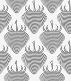 Perforated strawberry striped Stock Photography