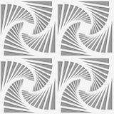 Perforated striped вращанные триангулярные формы Стоковая Фотография RF