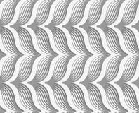 Perforated striped горизонтальный шеврон Стоковая Фотография