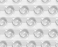 Perforated striped завихряясь волны Стоковое Изображение RF
