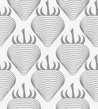 Perforated striped клубника Стоковые Изображения