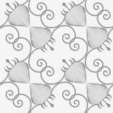 Perforated striped раскосная клубника Стоковые Фотографии RF