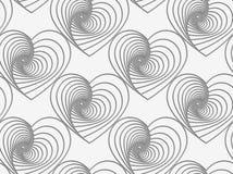 Perforated striped сердца Стоковое Фото