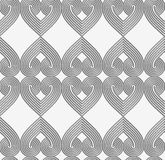 Perforated striped сердца Стоковые Изображения RF