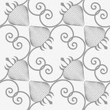 Perforated striped diagonal strawberry Royalty Free Stock Photos