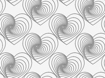 Perforated striped hearts Stock Photo