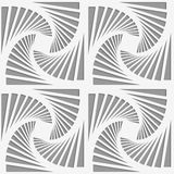 Perforated striped rotated triangular shapes Royalty Free Stock Photography