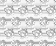 Perforated striped swirling waves Royalty Free Stock Image