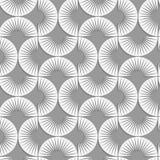 Perforated stripy semi circles Stock Photos