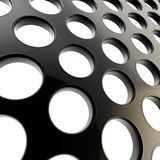 Perforated surface as abstract glossy background Stock Photos