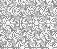 Perforated swirly striped rounded shapes Stock Photography