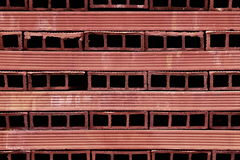 Perforated terracotta bricks Royalty Free Stock Photo