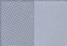 Perforated texture leather. Set of two perforated texture leather  for background Stock Photos