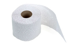 Perforated toilet paper in roll Royalty Free Stock Photography