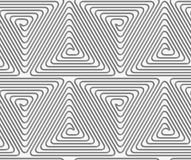 Perforated triangle connected spirals Royalty Free Stock Image