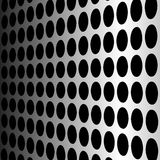Perforated wall, vector. Perforated wall, steel dotted background Stock Photography