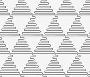 Perforated wavy triangles in rows Stock Photo