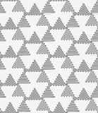 Perforated wavy triangles turned Royalty Free Stock Photos