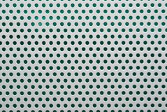 Perforated white metal Stock Image