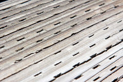 Perforated Wood Stock Image