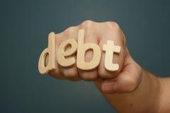 Perforateur de coup de grâce de dette Photos stock