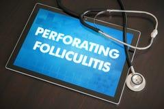 Perforating folliculitis (cutaneous disease) diagnosis medical c Royalty Free Stock Images