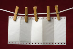 Perforation Paper Stock Photo