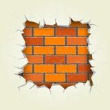 Perforation rectangulaire dans le mur de briques illustration libre de droits