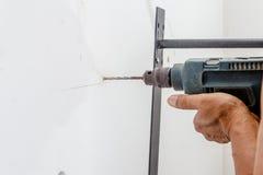 Perforazione del lavoratore Immagine Stock