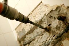 Perforazione e demolizione Immagini Stock