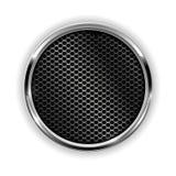 Perforerad knapp för metall krom Royaltyfria Foton