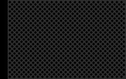 Perfori il piano grigio metallico Fotografia Stock