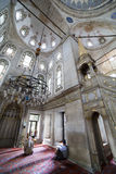 He perform the ritual prayers of islam in Eyup Sultan Mosque, Is Stock Images