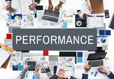 Performance Accomplishment Implementation Concept. People Discuss Performance Accomplishment Implementation Royalty Free Stock Image