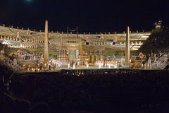 Performance of aida in the arena Stock Images