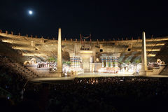 Performance of aida in the arena Royalty Free Stock Photo