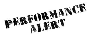 Performance Alert rubber stamp Stock Photo
