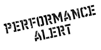 Performance Alert rubber stamp Royalty Free Stock Photography