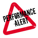 Performance Alert rubber stamp Stock Image