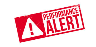 Performance Alert rubber stamp Stock Photos