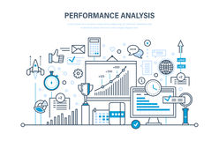 Performance analysis. Market research group, research, statistic, information exchange, calculations. Performance analysis. Market research group, research Stock Images