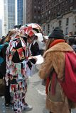 Performance Art, Blood Money, Government Corruption, Global Currency, World Money, March for Our Lives, Protest, NYC, NY, USA royalty free stock image