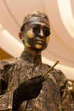 Performance art, Bronzemen Royalty Free Stock Images