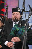 Performance artists, orchestra,   ensemble Scottish national musical instruments pipes and drums. Stock Image